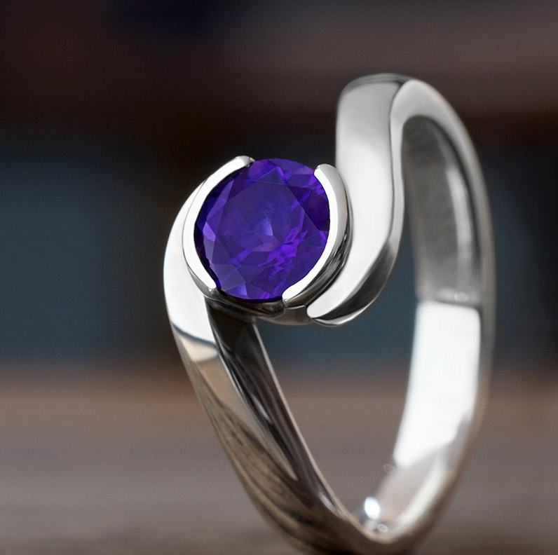Gallery of Amethyst Engagement Rings