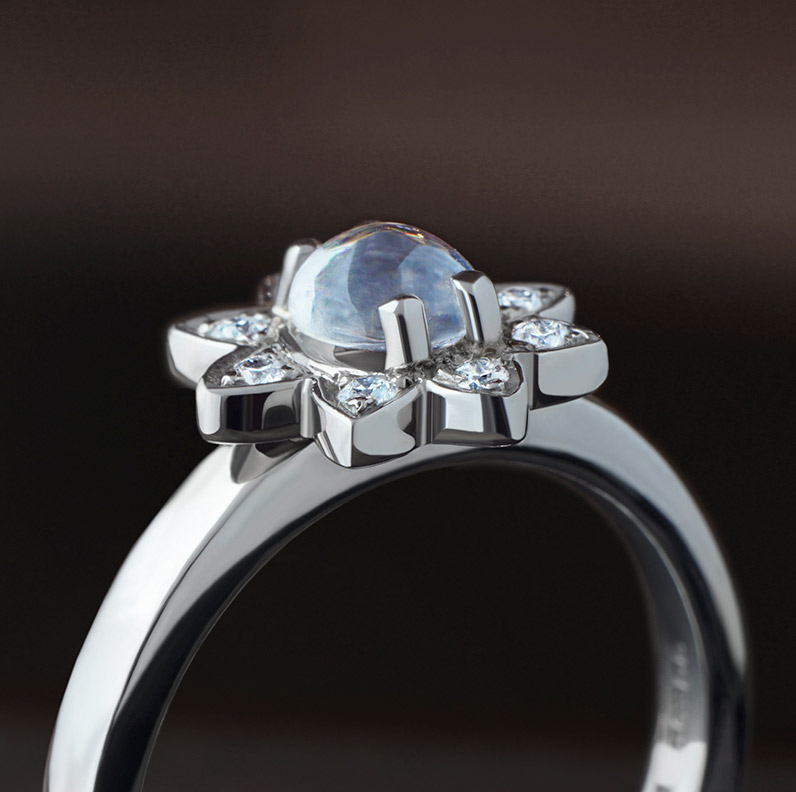 Gallery of Moonstone Engagement Rings
