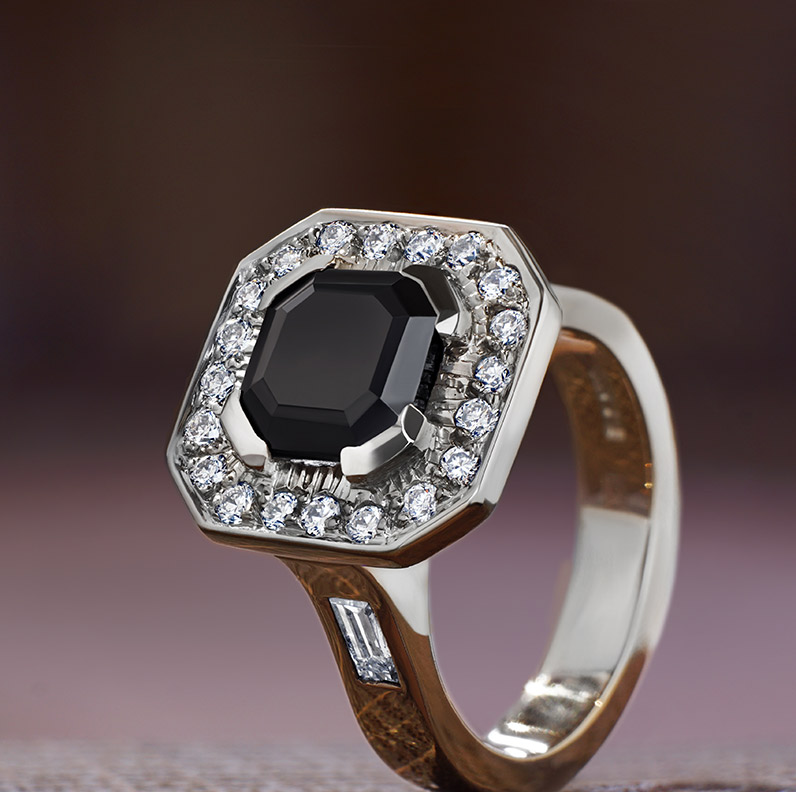 Gallery of Onyx Engagement Rings