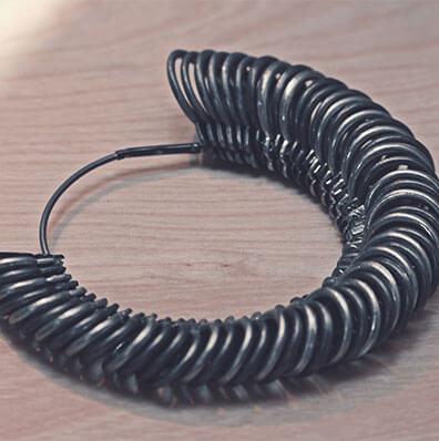 Borrow a ring sizer