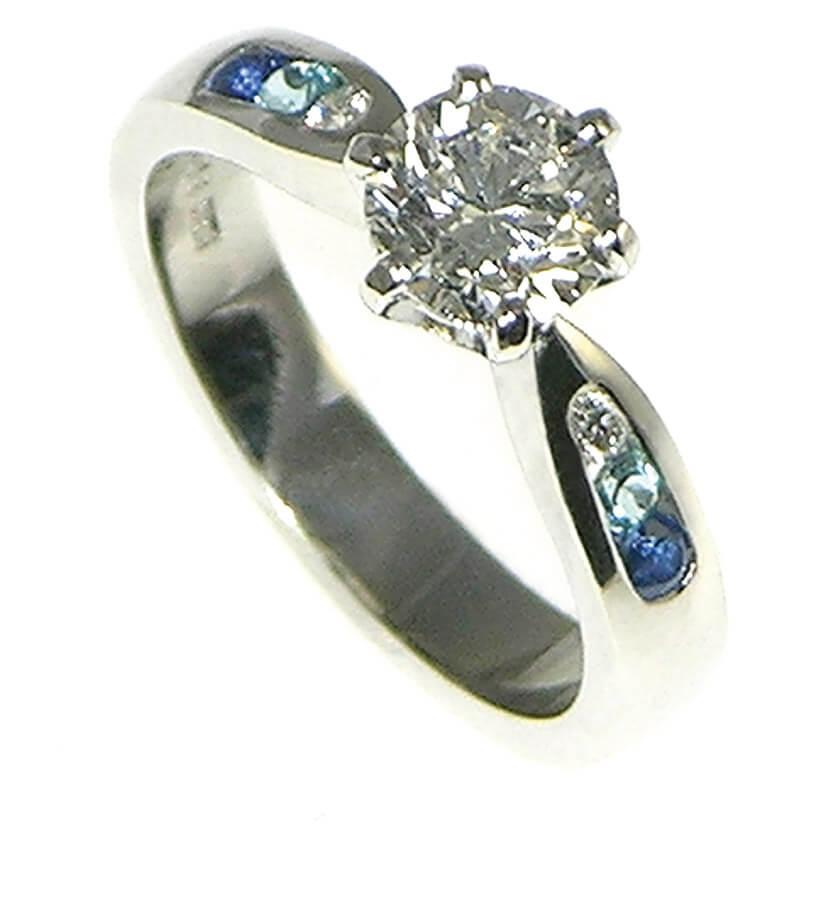 Lake Louise Inspired Engagement Ring