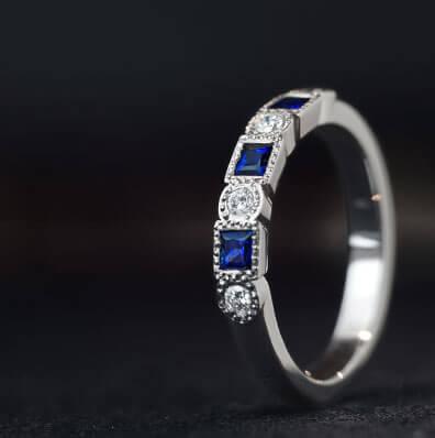 Set with Gemstones