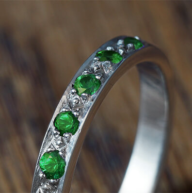 Emerald Eternity Rings