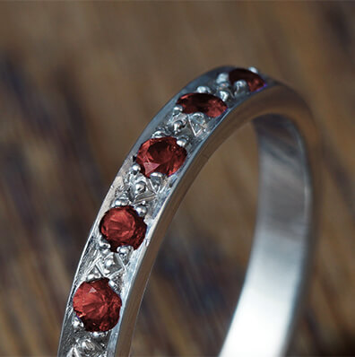 Garnet Eternity Rings