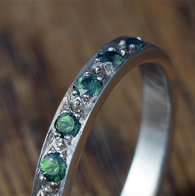 Tourmaline Eternity Rings
