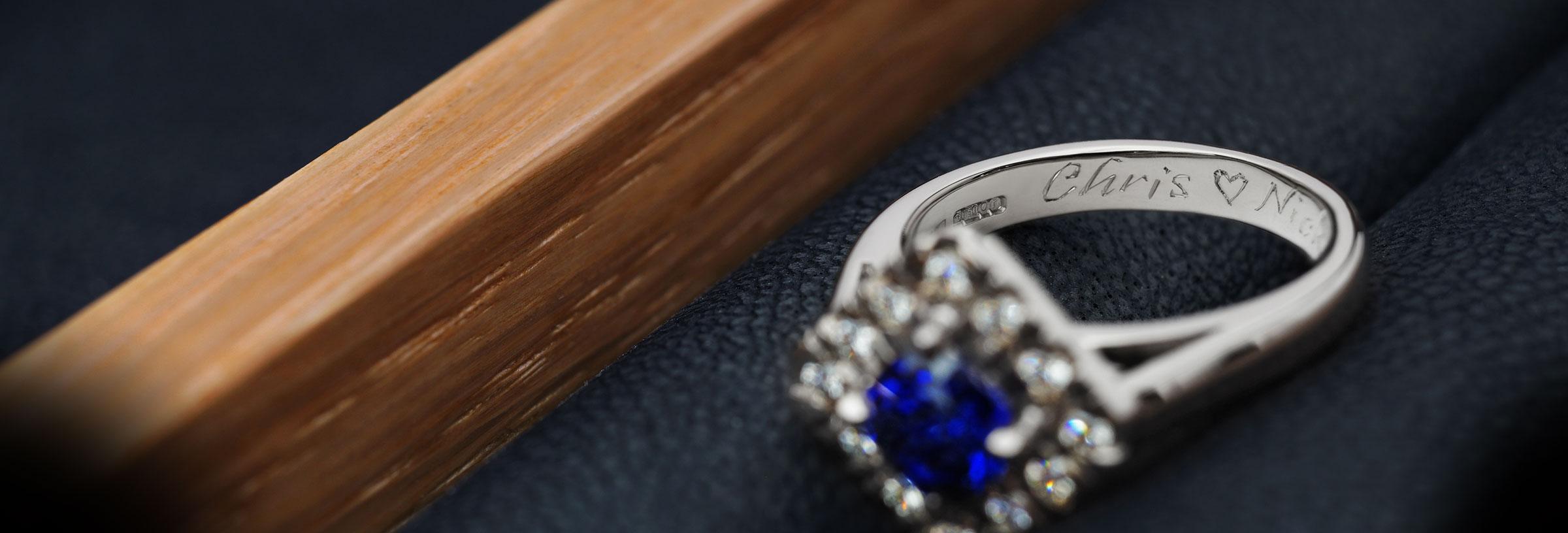 inside letters engraved engagement rings harriet kelsall