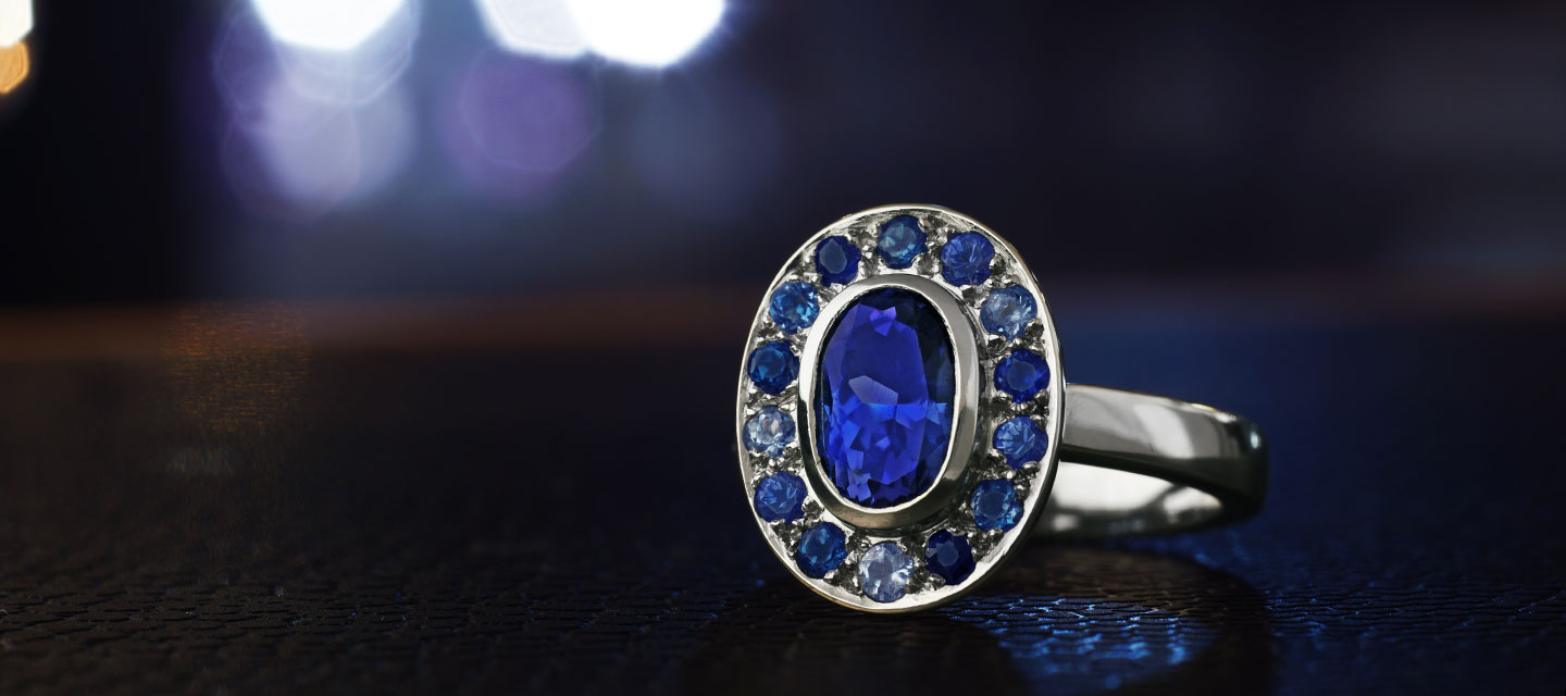 Tanzanite Engagement Rings Information | Harriet Kelsall