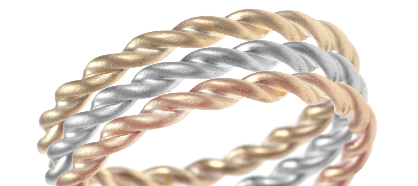 Choosing your bespoke stacking rings