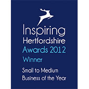 Small Business of the Year-Inspiring Hertfordshire Awards, 2012
