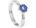 hexagonal blue sapphire