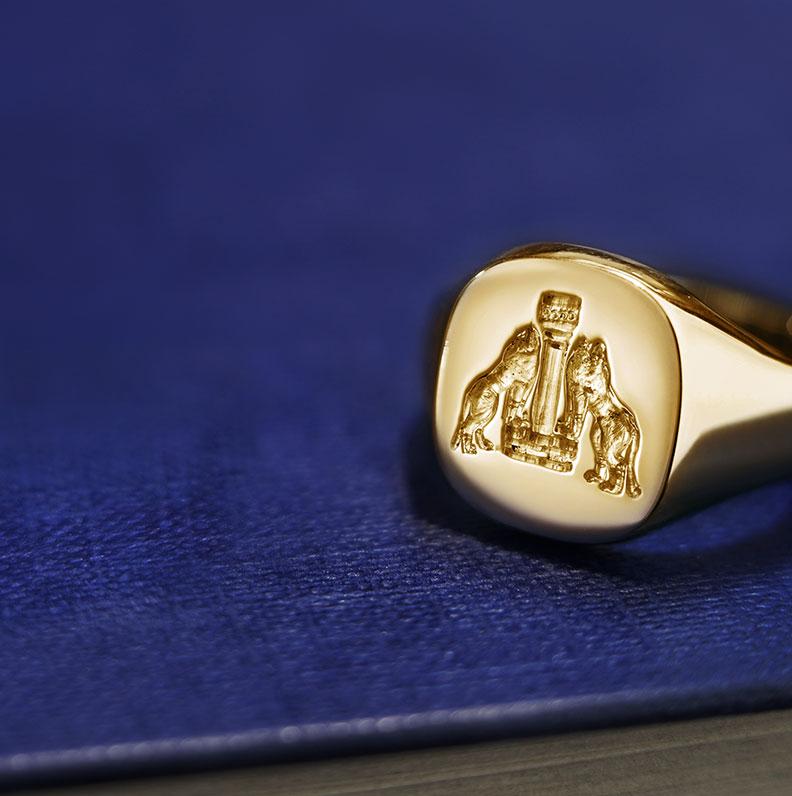 Seal Engraved Rings