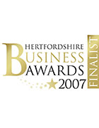 Hertfordshire Business Awards 2007, ' Best Medium Business' Finalist