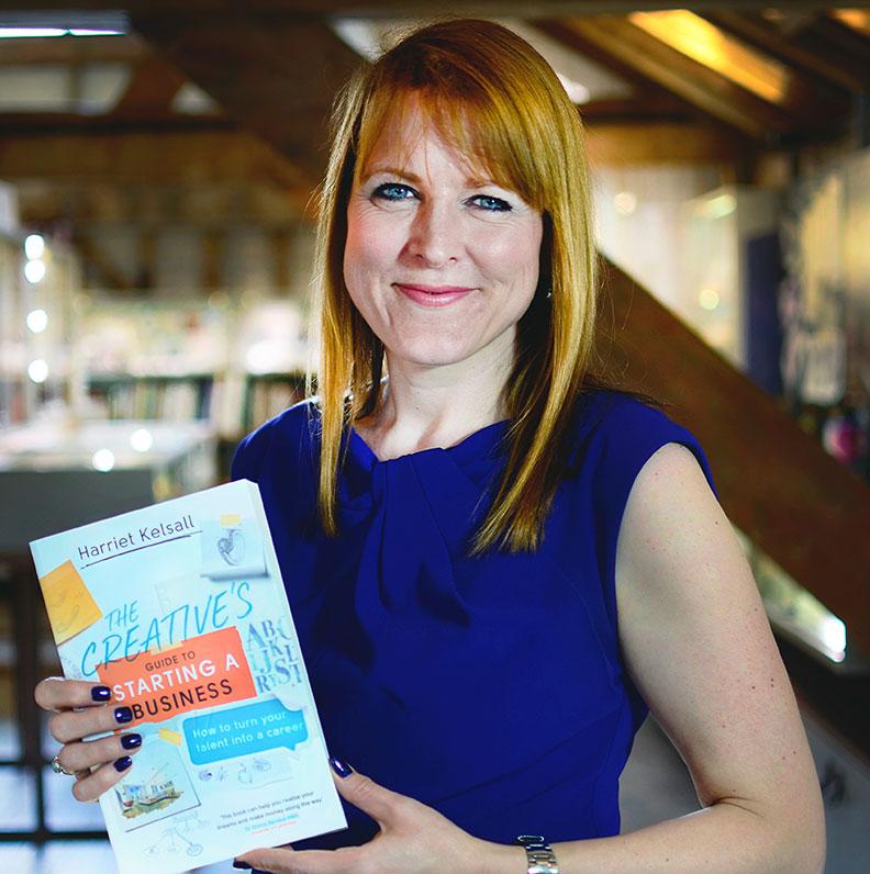 Harriet Kelsall With Her Award Winning Book